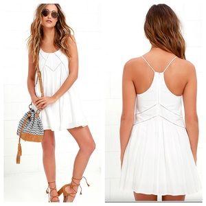 Lulu's Easy Honey Ivory Slip White Dress. NWT